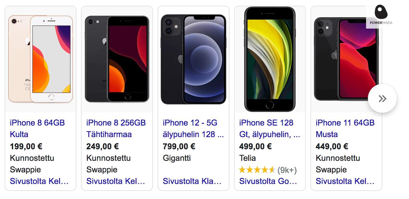 Google Shopping mainonta